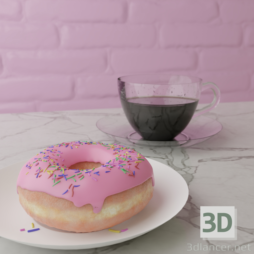3d Donut model buy - render