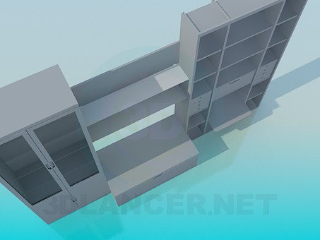 3d model unidad de pared - vista previa