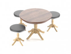 Table + chaises
