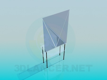3d model Glass table with a mirror - preview