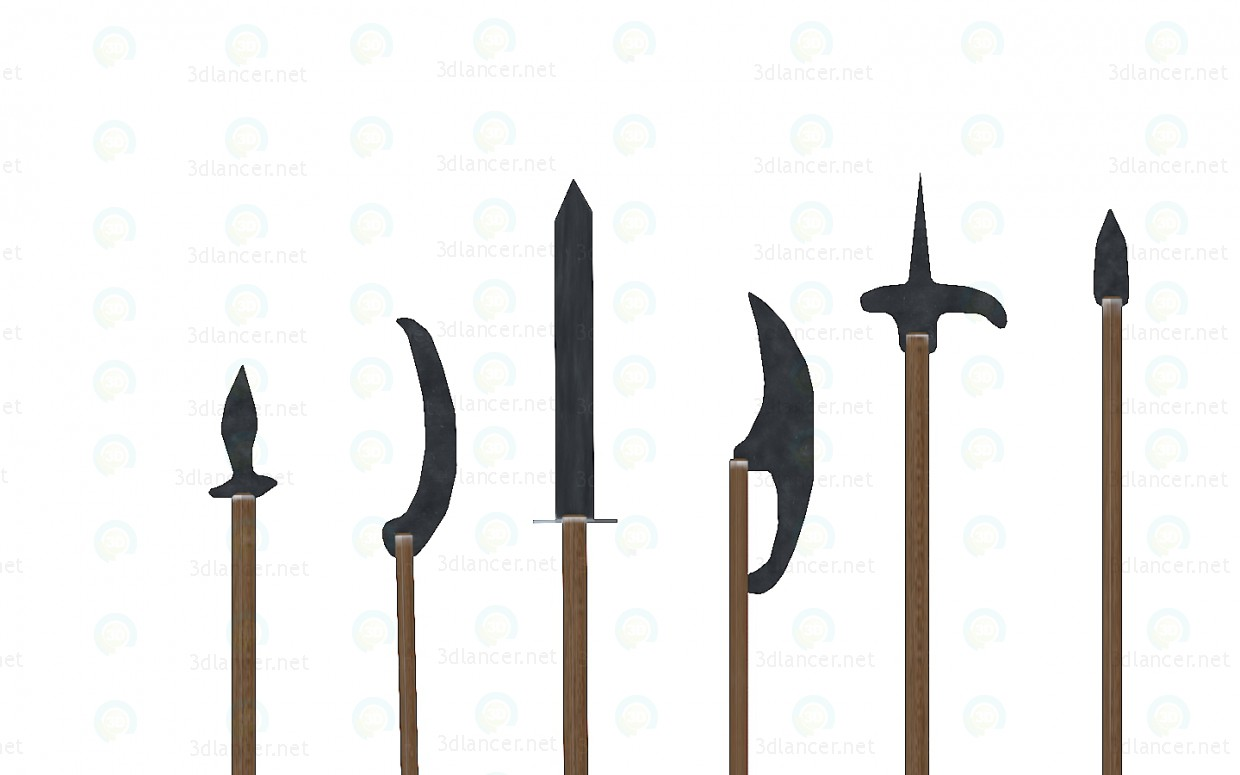 3d modeling Medieval Weapons model free download