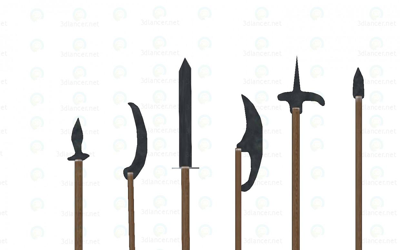 modelo 3D Armas medievales - escuchar
