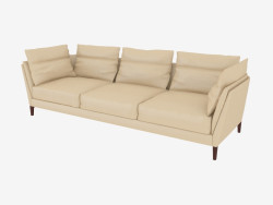 Triple leather sofa