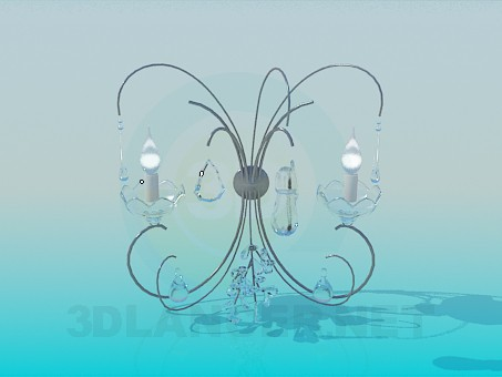 3d model Sconce with candelabra - preview