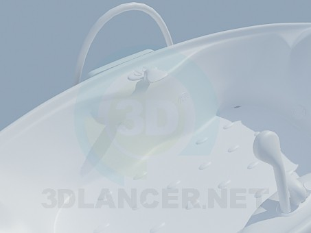 modelo 3D Alfombra de baño - escuchar