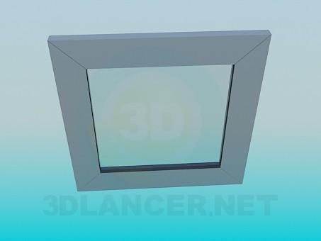 3d модель Квадратное настенное зеркало – превью
