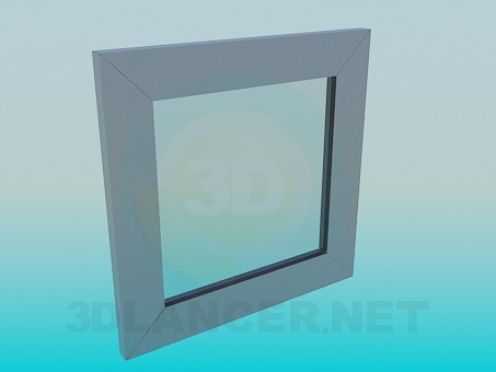 3d model Square wall mirror - preview