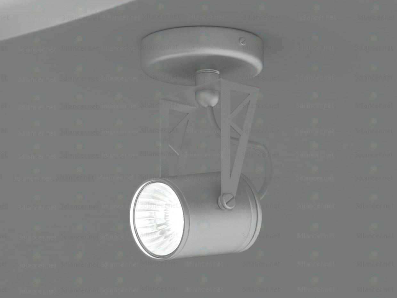 3d Tecsun HTR-104 lamp GU10 50W model buy - render