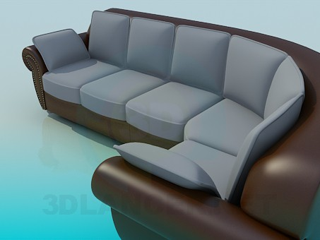 3d model Sofa taupe - preview