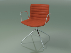 Chair 0375 (swivel, with armrests, with padding, LU1)