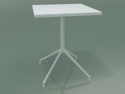 Tavolo quadrato 5706, 5723 (H 74 - 59x59 cm, steso, bianco, V12)