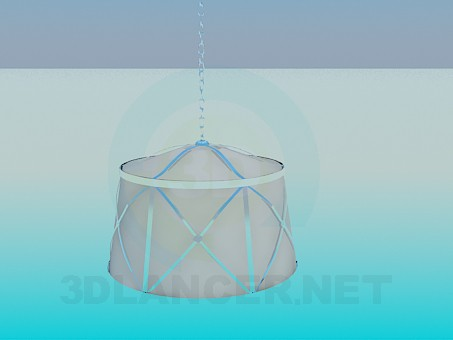 3d model Lamp with lampshade - preview