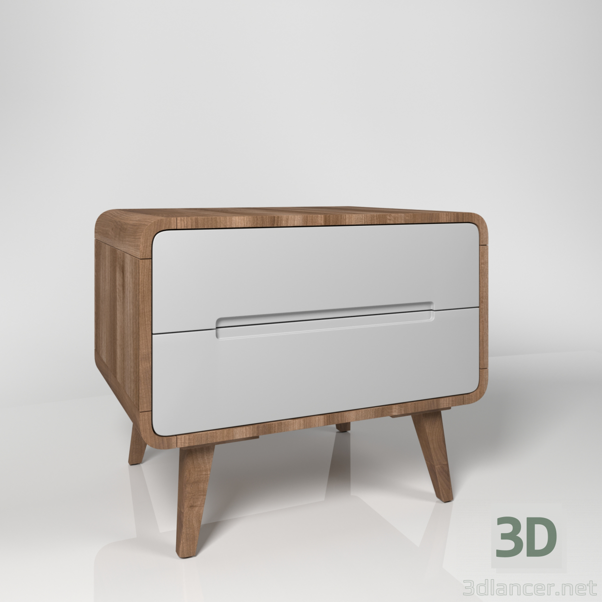 3d model Nightstand - Bedside table - preview