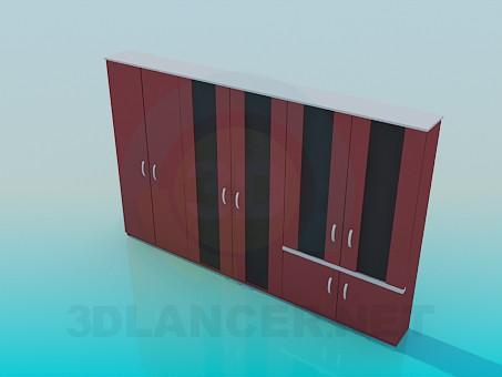 modelo 3D Armario largo - escuchar