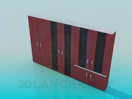 3d model Long wardrobe - preview