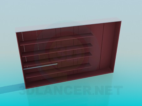 3d model Long wardrobe - preview