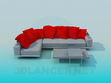 3d modeling The sofa in the hallway model free download