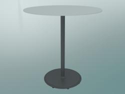 Tavolo BON (9382-01 (⌀ 70cm), H 74cm, HPL bianco, ghisa grigio alluminio)