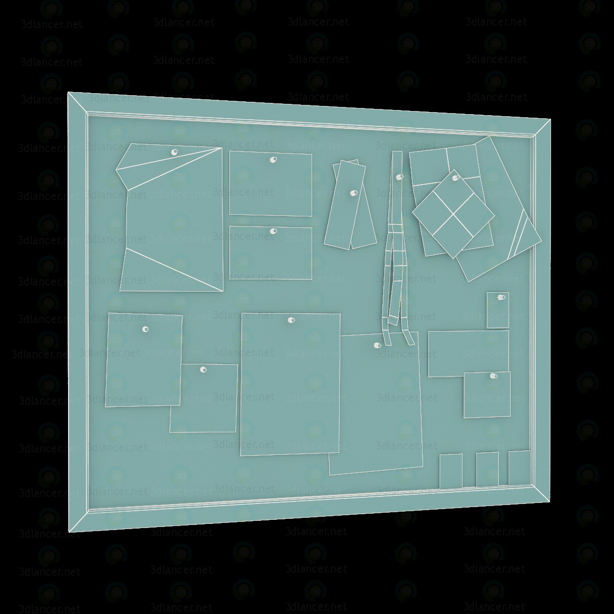 3d model Notice Board - preview