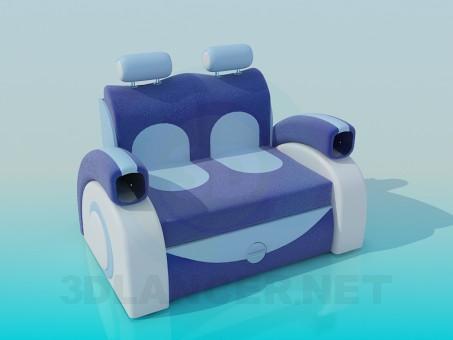 3d модель Диван-кресло – превью