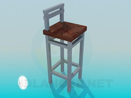 descarga gratuita de 3D modelado modelo Silla alta patas