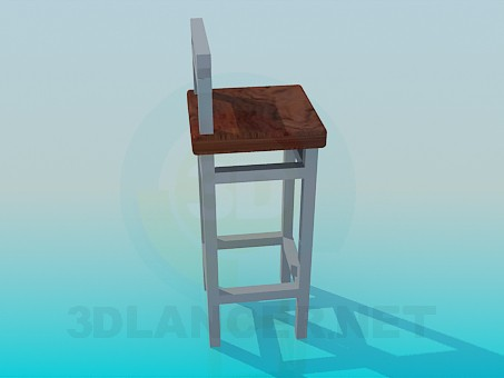 3d модель Стілець на високих ніжках – превью