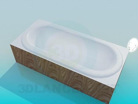 3d модель Проста ванна – превью