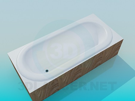3d model Simple bath - preview
