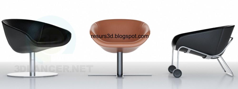 3d модель Кресла_компании_BB – превью