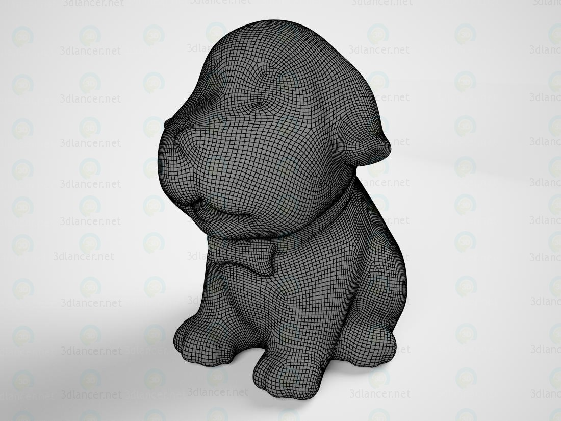 3d model Puppy figurine - preview