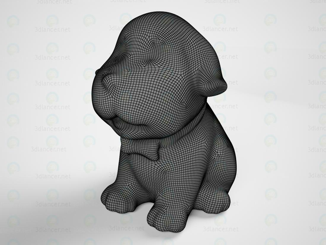 modelo 3D Estatuilla del cachorro - escuchar