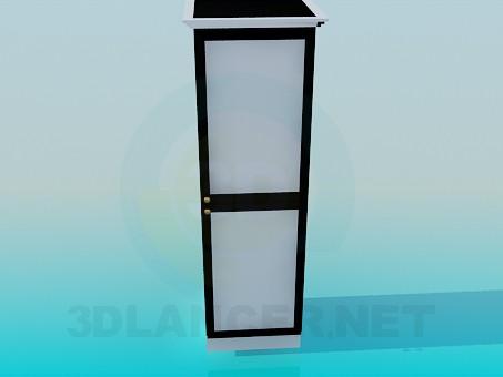 3d модель Шкафчик-пенал – превью