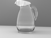 Glass jug covered with a rag