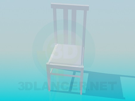 3d model Silla ordinaria - vista previa