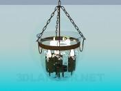Vela de luminaria en una campana de vidrio