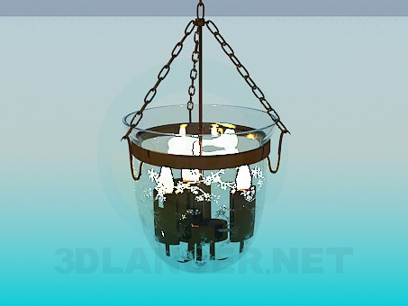 3d modeling Luminaire candle in a glass bell jar model free download