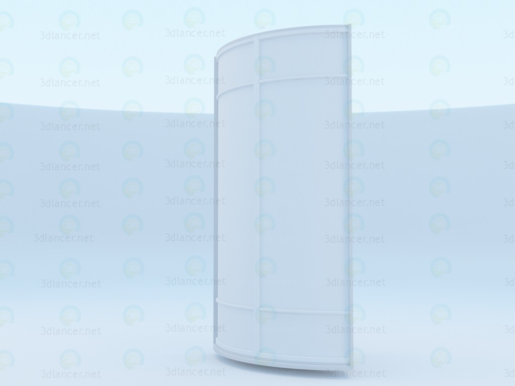 3d model Corner compartment cabinet - preview