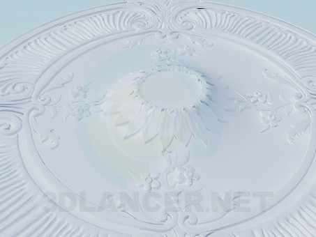 3d модель Потолочные розетки – превью