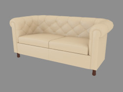 Double leather sofa (165)