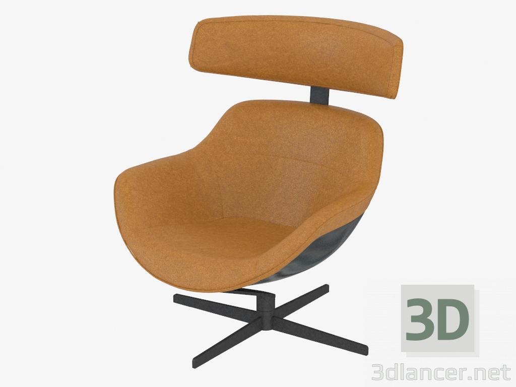 descarga gratuita de 3D modelado modelo sillón de cuero AUCKLAND 277