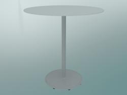 Tavolo BON (9382-01 (⌀ 70cm), H 74cm, HPL bianco, ghisa bianco)