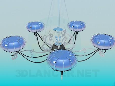 modelo 3D Lámpara chandelier moderna de - escuchar
