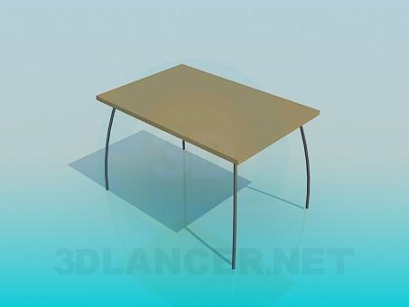 3d моделирование Стол с дугооборазными ножками модель скачать бесплатно