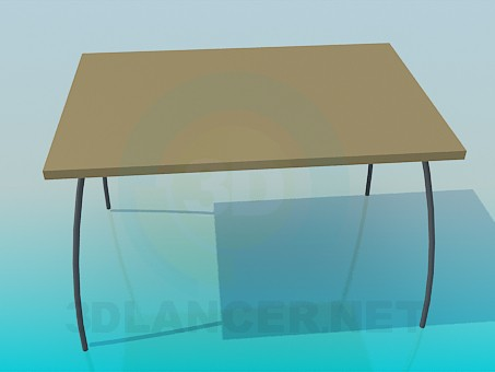 3d model Table with arched legs - preview