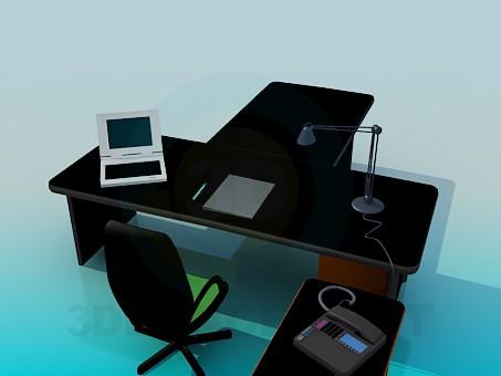 modelo 3D Escritorio del administrador - escuchar