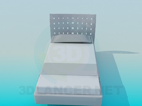 3d модель Ліжко одномісна – превью