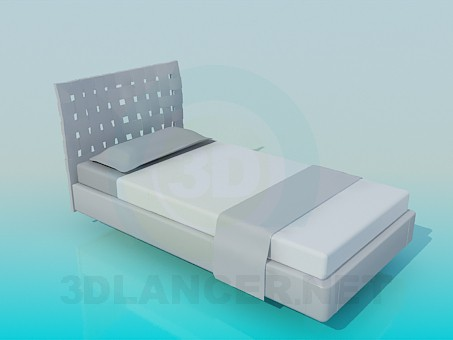 3d model Bed single - preview
