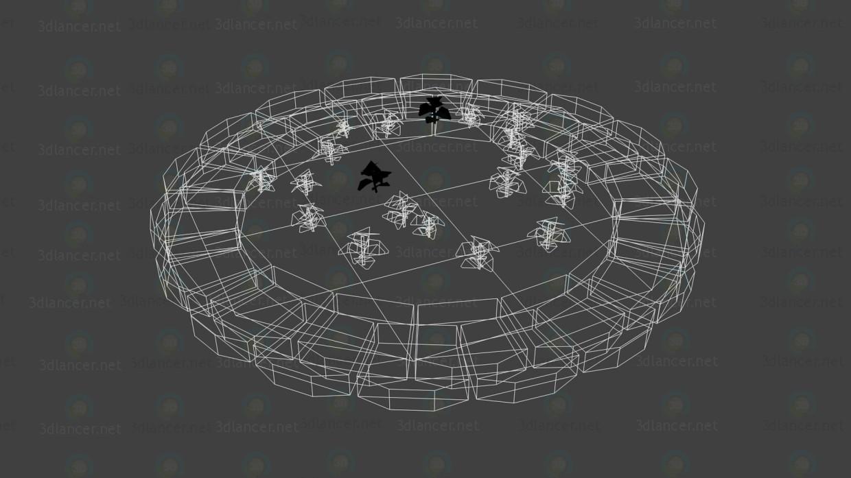 3d модель Обрамление дерева – превью
