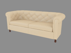 Leather sofa double (190)