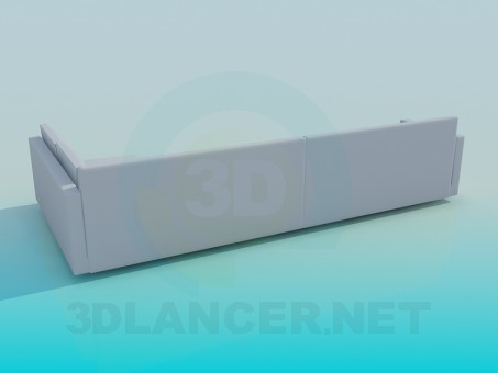 3d модель Диван угловой – превью